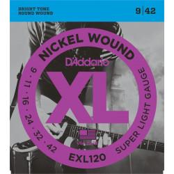 D'ADDARIO EXL120 cordes pour guitare électrique.